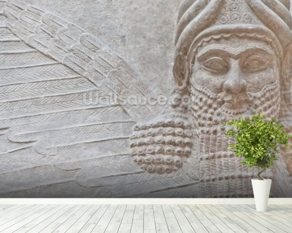 Mesopotamian Art mural wallpaper room setting