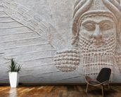 Mesopotamian Art mural wallpaper kitchen preview