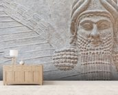 Mesopotamian Art mural wallpaper living room preview