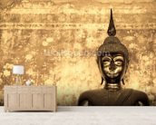 Buddha on Background wallpaper mural living room preview