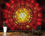Maya calendar on a end of days background wallpaper mural kitchen preview