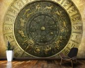 Vintage image of Venetian clock mural wallpaper kitchen preview