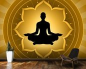 Yoga - Meditation On Lotus Background mural wallpaper kitchen preview