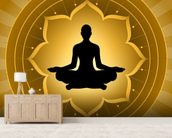 Yoga - Meditation On Lotus Background mural wallpaper living room preview