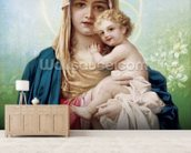 Madonna Maria wallpaper mural living room preview