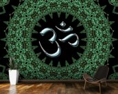 Fractal mandala aum mural wallpaper kitchen preview