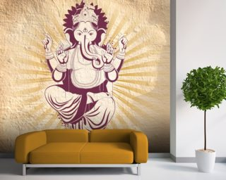 Ganesha mural wallpaper