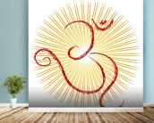 Om - the divine symbol of Hinduism wall mural in-room view