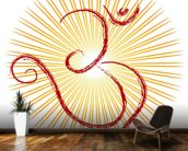 Om - the divine symbol of Hinduism wall mural kitchen preview