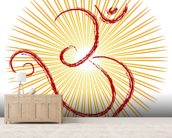 Om - the divine symbol of Hinduism wall mural living room preview