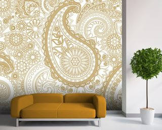 Paisley wallpaper mural