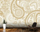 Paisley wallpaper mural kitchen preview
