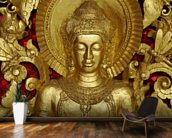 Buddha Carving at temple, Luang Prabang, Laos. wall mural kitchen preview
