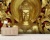 Buddha Carving at temple, Luang Prabang, Laos. wall mural living room preview