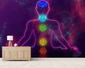 Human chakra system mural wallpaper living room preview
