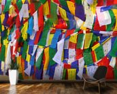 Buddhist prayer flags wall mural kitchen preview