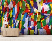 Buddhist prayer flags wall mural living room preview