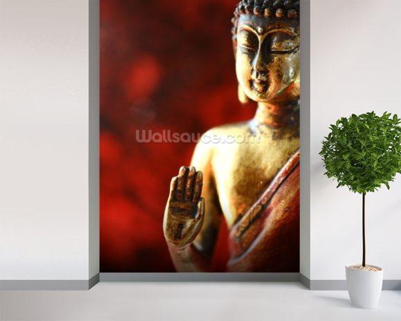 Buddha wallpaper wall mural wallsauce for Buddha mural wallpaper