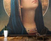Antique religious icon wall mural kitchen preview