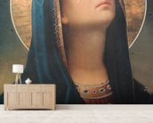 Antique religious icon wall mural living room preview