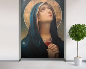 Antique religious icon wall mural in-room view