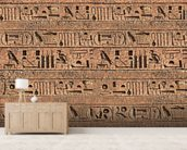 Hieroglyphs mural wallpaper living room preview