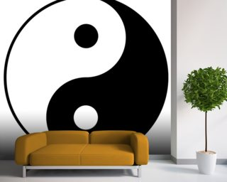 Symbology wall art iconographic wall art wallsauce for Meuble mural yin yang