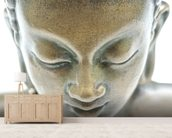 Buddha portrait wallpaper mural living room preview