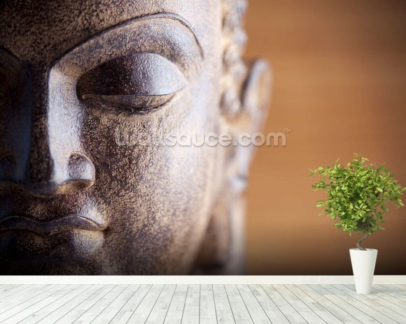 Statue of Buddha mural wallpaper room setting