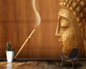 Zen Temple - Smoke Meditation with Buddha wall mural kitchen preview