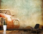Vintage Car wallpaper mural kitchen preview