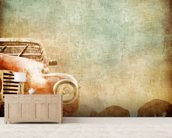 Vintage Car wallpaper mural living room preview