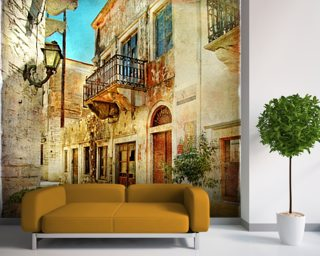 Old Town, Greece Wall Mural Wallpaper Part 96