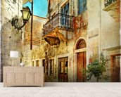Old Town, Greece wall mural living room preview