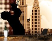 Jazz in New York mural wallpaper kitchen preview