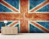 Union Flag mural wallpaper living room preview