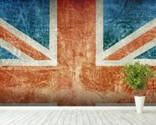 Union Flag mural wallpaper in-room view