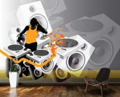 DJ Music wall mural kitchen preview