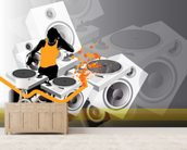 DJ Music wall mural living room preview