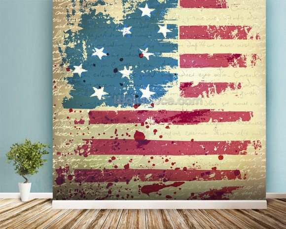 Independence Day mural wallpaper room setting