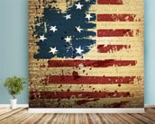 Independence Day mural wallpaper in-room view