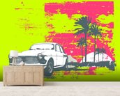 Retro Car wall mural living room preview