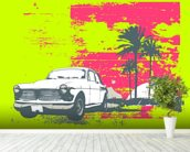 Retro Car wall mural in-room view
