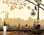 Street Cafe wallpaper mural kitchen preview