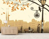 Street Cafe wallpaper mural living room preview
