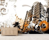 Urban Music wall mural living room preview