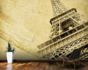 Eiffel Tower Vintage mural wallpaper kitchen preview