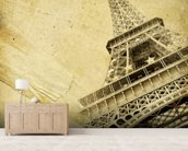 Eiffel Tower Vintage mural wallpaper living room preview