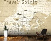 Vintage Travel Spirit wall mural kitchen preview