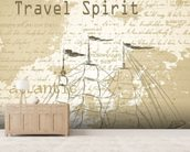 Vintage Travel Spirit wall mural living room preview